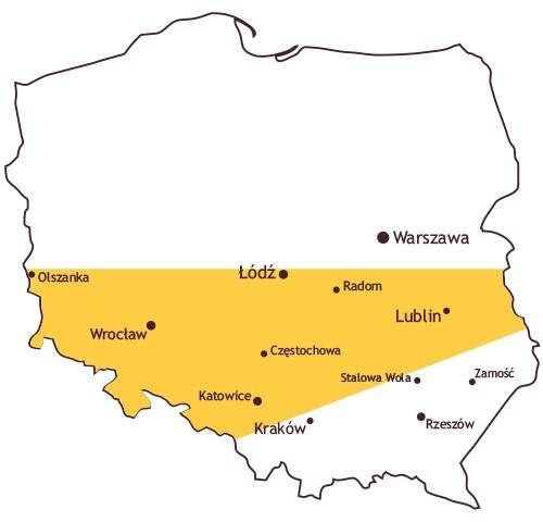 Busy z Polski do Niemiec - Trasa BromarBusy